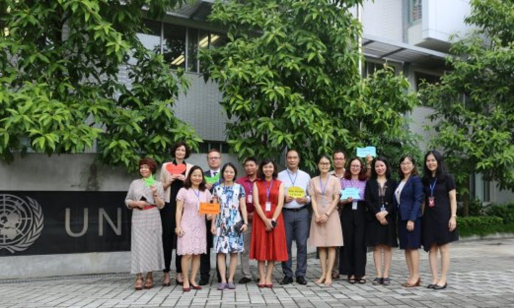 The Counsellor Mr. Ivan Nesterov on behalf of the Embassy of the Russian Federation in the Socialist Republic of Vietnam, representatives of national constituents, universities, schools, NGOs, and enterprises participated in the launching event.