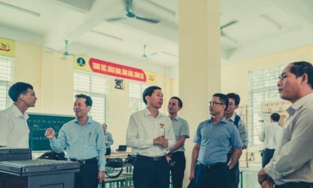 The delegation visited the workshop at VCMI