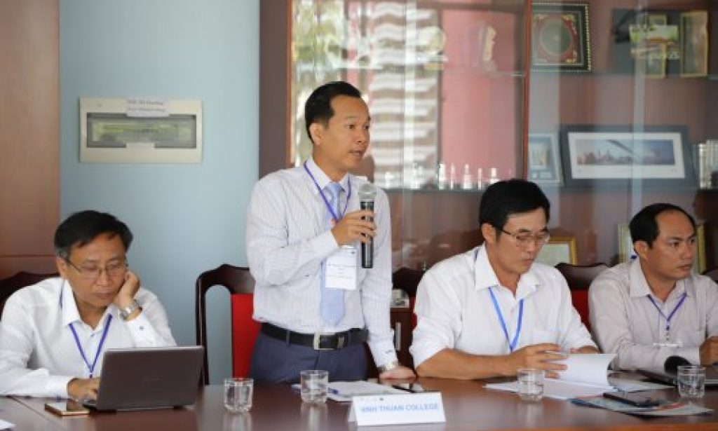Mr. Nguyen Phan Anh Quoc – Rector of Ninh Thuan Vocational College (NTVC), shared the advantages and challenges of NTVC when applying the German standard Mechatronics training programme